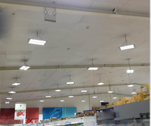 LED High Panel high bay light in Warehouse, USA