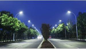 LED Parking Lot  light of Hishine lights up the Highway, USA