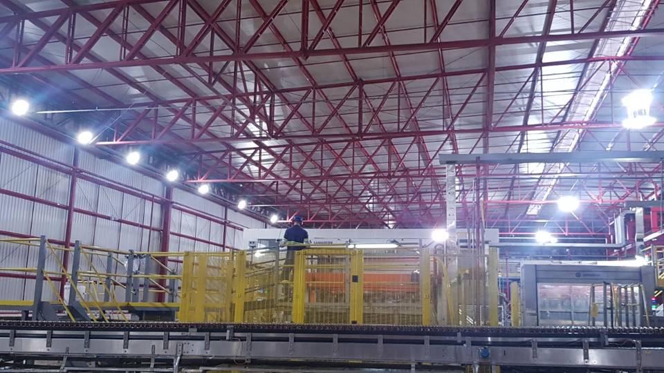 Hishine K5 Led High Bay Light Factory Lighting Project