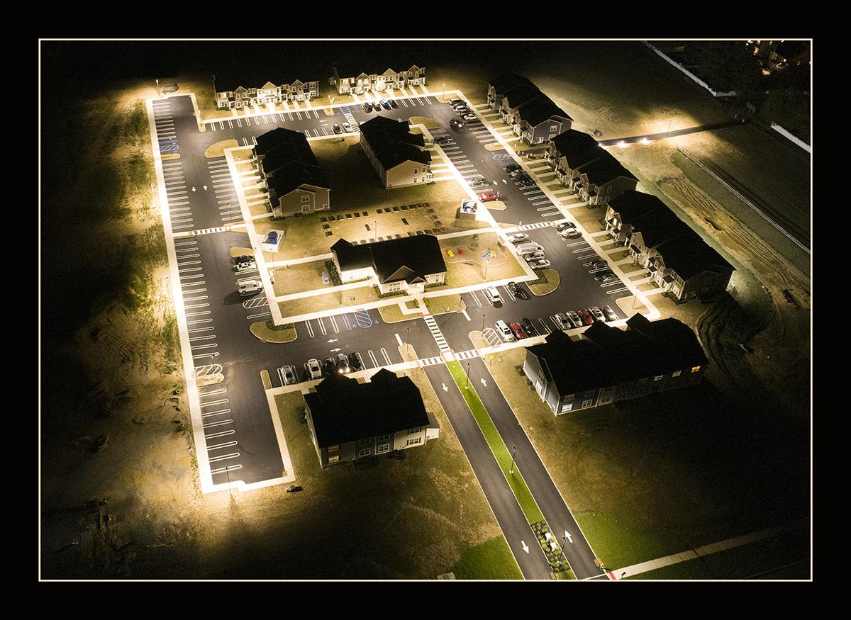 USA Parking Lot Lighting Project - Hi Talent Led Area Light